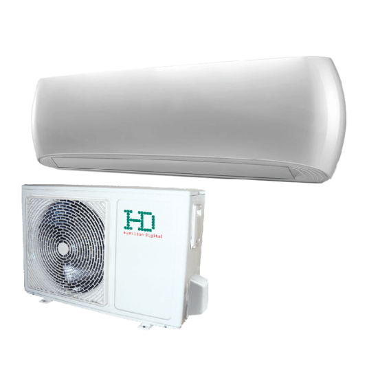HD HDWI-DSGN-090C-WHITE/HDOI-DSGN-90C Desing 2,5 kW -os oldalfali split klíma csomag