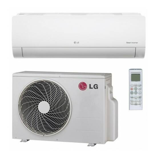 LG PC09SQ Silence Plus 2,6 kW-os inverteres split klíma csomag, beépített Wi-Fi
