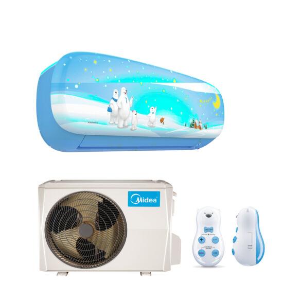 Midea Kids Fiú MSEBAU-12HRFN8-QRD0G-BL inverteres split klíma csomag 3,5 kW