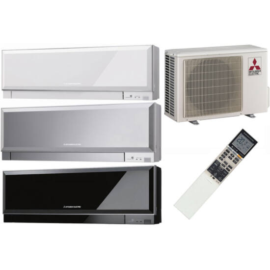 Mitsubishi MSZ/MUZ-EF35VES Kirigamine Zen Inverteres Prémium oldalfali split klíma csomag 3,5 kW (ezüst)