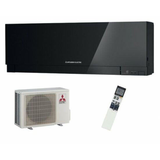 Mitsubishi MSZ/MUZ-EF25VEB Kirigamine Zen Inverteres Prémium oldalfali split klíma csomag 2,5 kW (fekete)