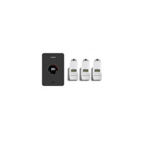Bosch EasyControl set CT 200 Wifi-s szabályzó Fekete + 3 db termosztátfej