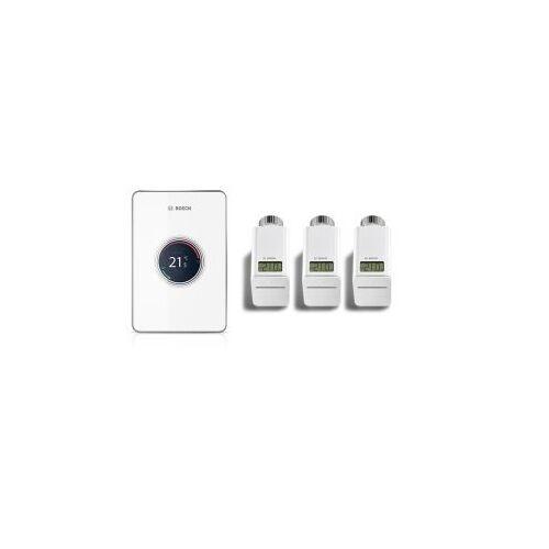 Bosch EasyControl set CT 200 Wifi-s szabályzó Fehér + 3 db termosztátfej
