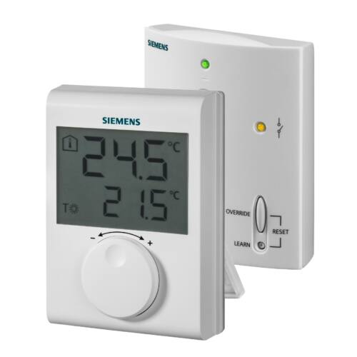 Siemens RDH100RF/SET Rádiófrekvenciás, elemes szobatermosztát LCD kijelzővel