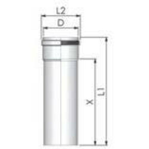 Tricox PPs cső 60mm, hossz 1000 mm