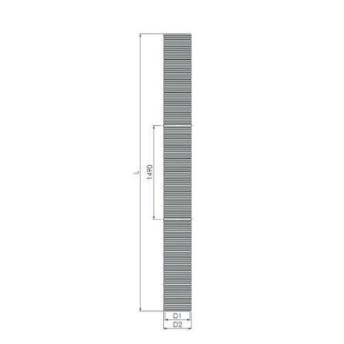 Tricox PP flexibilis cső, Ø 110 mm, 25 fm-es tekercsben, kartondobozban
