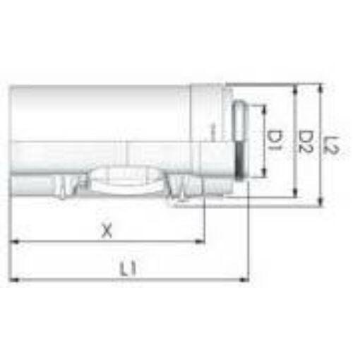 Tricox PPs/Alu ellenőrző egyenes idom 110/160mm