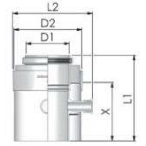 Tricox PPs/Alu mérőpont 80/125 mm