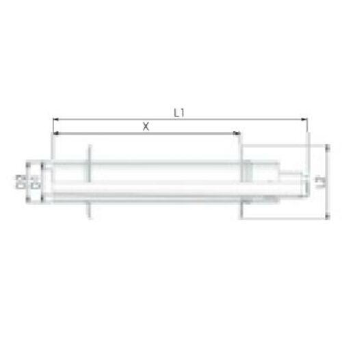 Tricox PPs/Alu parapet 80/125 mm 2db takaró lemezzel