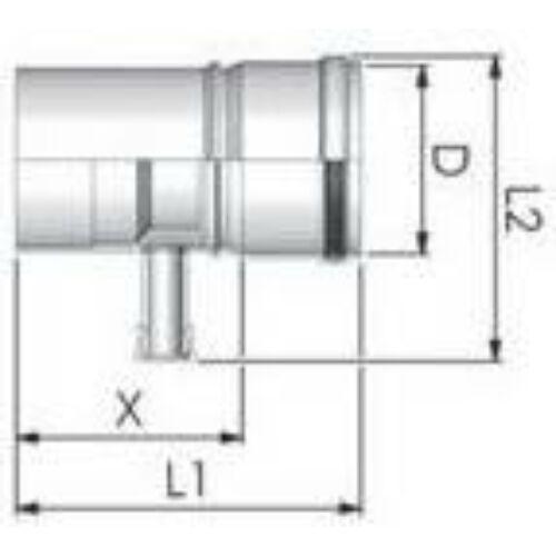 Tricox PPs kondenzátum leválasztó 80mm