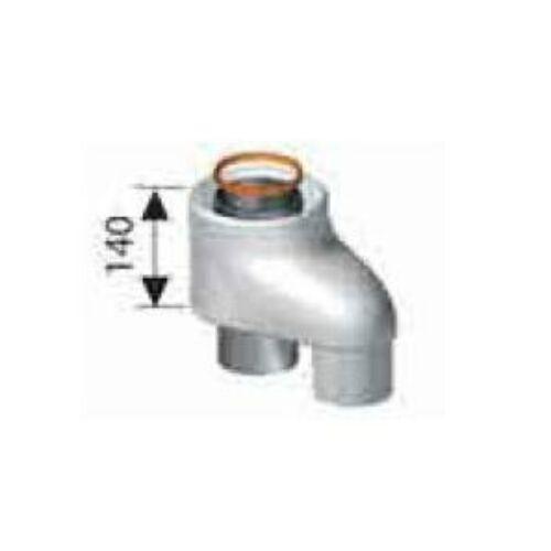 Ariston Közösítő idom, pp, 80/80 mm -> Ø80/125 mm