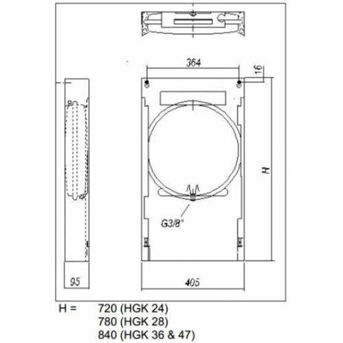Hajdu HGK-36 felszerelő keret gázkazánhoz