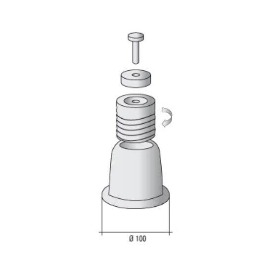 Klímatartó Láb Rezgéscsillapító Gumibakkal (fehér 325 kg-ig) 100mm