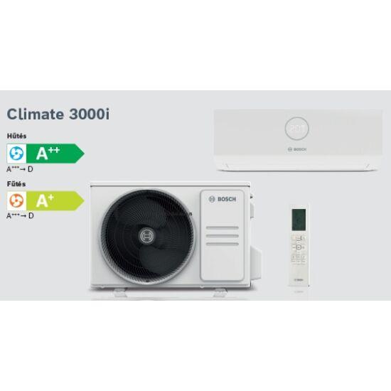 Bosch Climate 3000i CL3000i35E Inverteres Split klíma csomag 3,5 kW