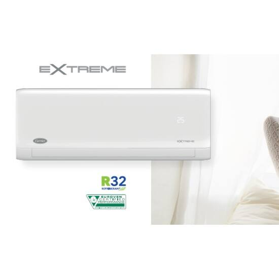 Carrier Extreme 42QHG009D8SX/38QHG009D8SX Inverteres oldalfali split klíma csomag 2,7 kW