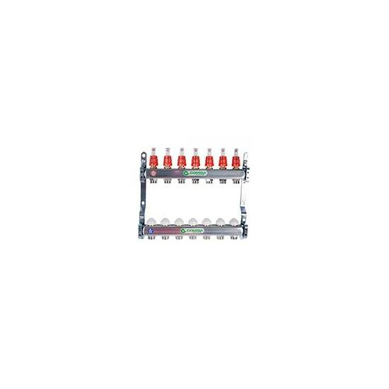 Comisa szerelt áramlásmérős osztó 10-kör