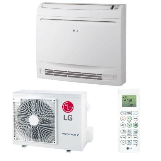 LG Konzol UQ12F/UUA1 Standard Parapetes/Padlón álló inverteres Split klíma csomag 3,5 kW
