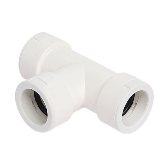 Kondenzvíz gégecső T-idom PVC 20mm (fehér)