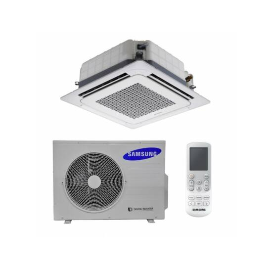 Samsung Deluxe mini AC026MXADKH/AC026MNNDKH/EU 4-utas Kazettás Split Klíma csomag 2,6 kW