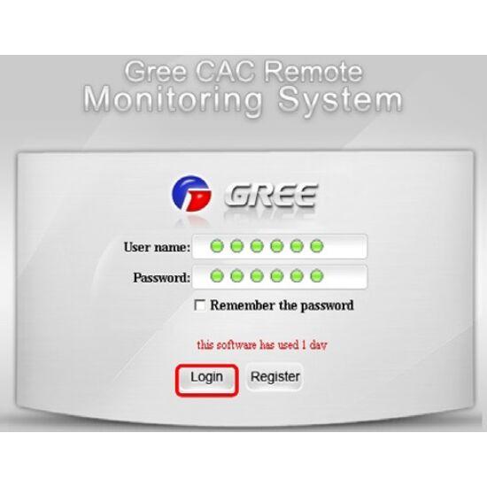 Gree GMV5/6 rendszerhez GRK-GMV-BIL költségmegosztó szoftver szett